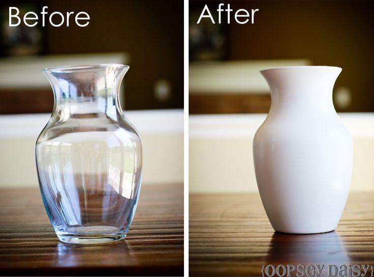 Vasenschmuck mit Glasmaltechnik