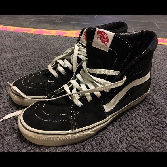 Vans Sk8-Hi Black & White Hi-Tops Classic Vans - Skate Hi...men's sz. 10 (women's sz. 11.5). normal wear, but lots of life left Vans Shoes Sneakers