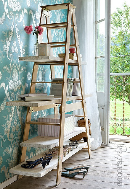 Ladder made into shelf - I need an old ladder