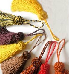"""Navy Blue Turk Knot Tassel 3"""" H( Customize in Your Colors )"""