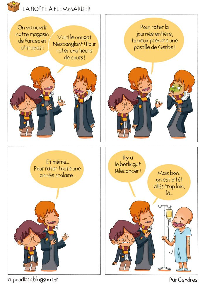 À Poudlard / At Hogwarts - Harry Potter Parody: La boite à flemmarder