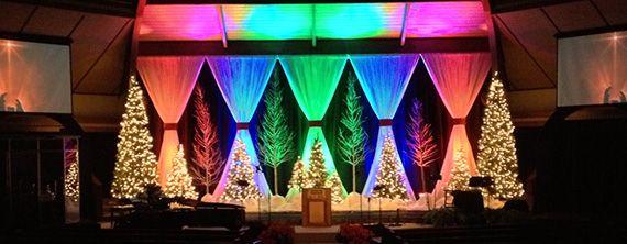 A Rainbow Christmas Church Stage Design Ideas Bridge