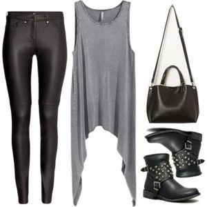 Edgy Hanna Marin inspired minimal style outfit