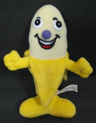 "7"" Smiling Happy BANANA Yellow Bean Bag Gazelle Plush Stuffed Toy B240"