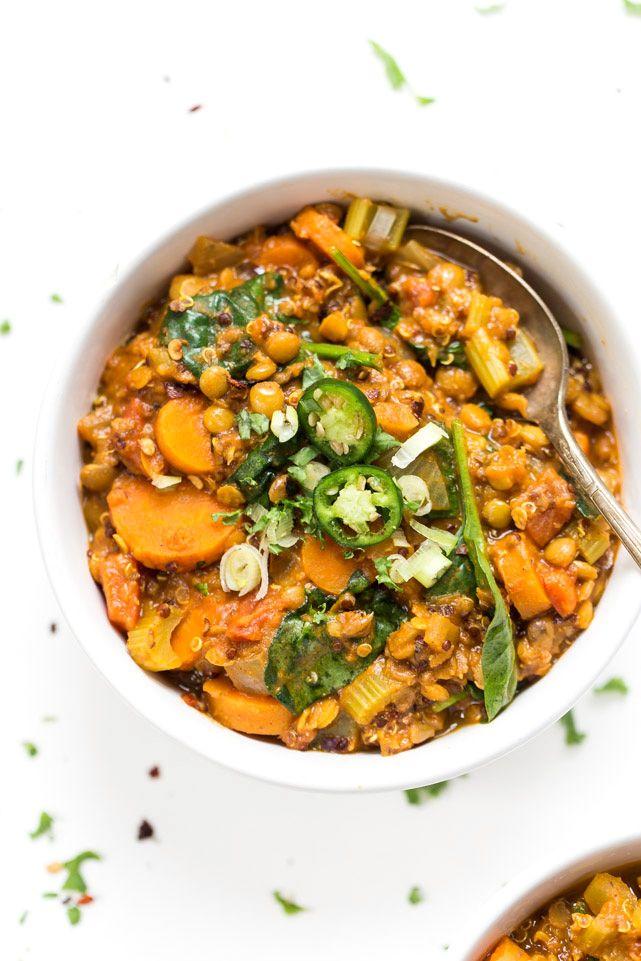 One Pot Moroccan Lentils + Quinoa - Simply Quinoa