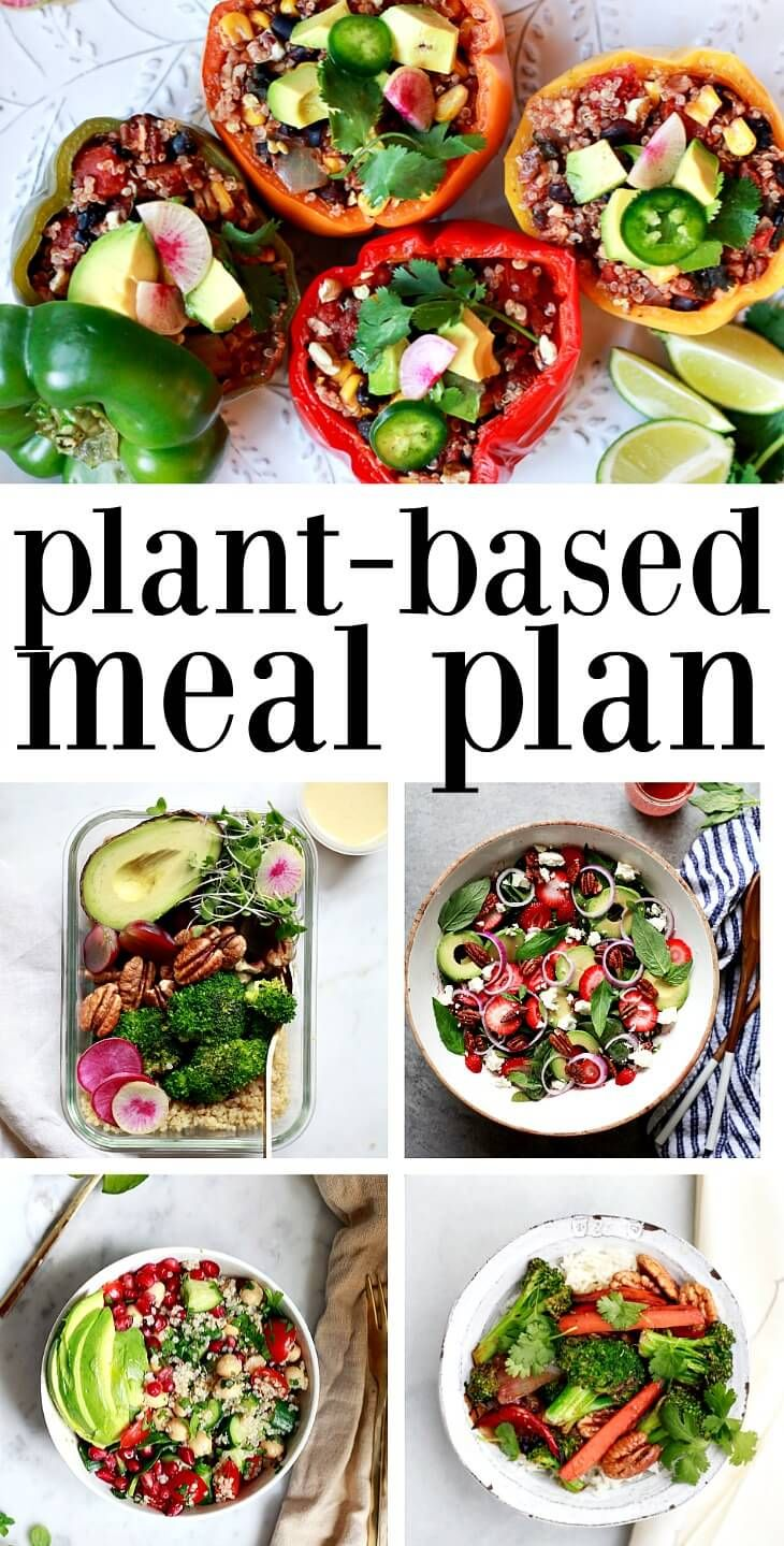 Vegan Weekly Meal Plan – Vegetarian, Gluten-Free, Vegan Meal Prep