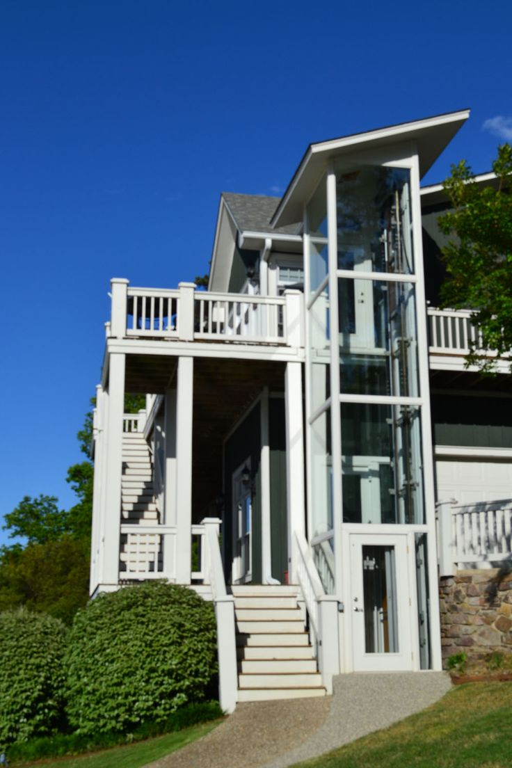 garaventa home elevator on the outside of your home