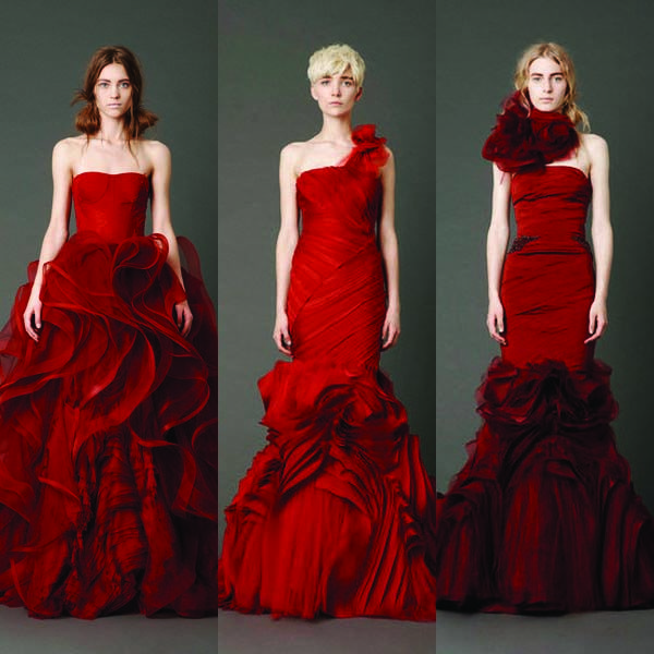 Colorful Wedding Dresses Red
