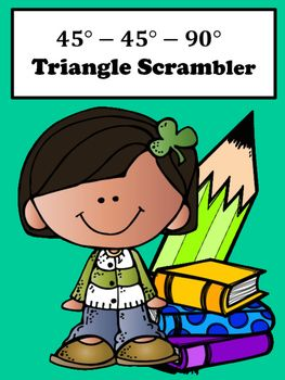 Special Right Triangles:  Students will enjoy special right triangle 45-45-90 with this scrambler activity. This activity is great for remediation and differentiation.