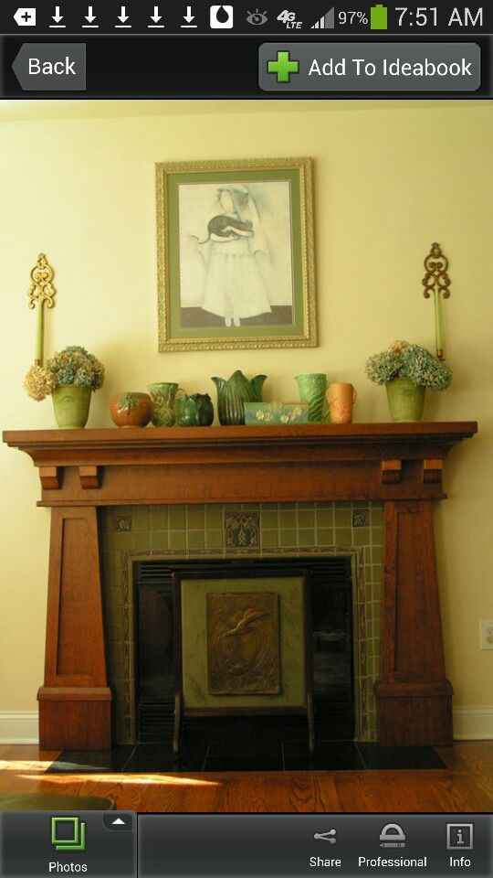 35 best images about fireplace redo plan 1 on pinterest for Craftsman fireplaces photos