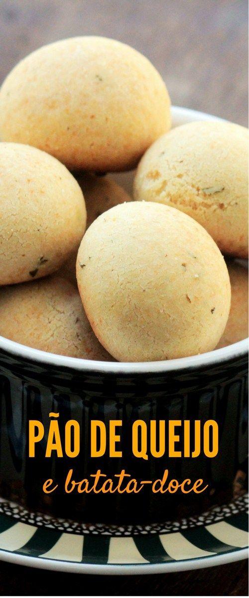 Faça um delicioso pão de queijo com batata-doce - Confira essa receita saudável, fácil e muito gostosa.    O pão de queijo com batata-doce pode ser congelado e assado na hora que você quiser.