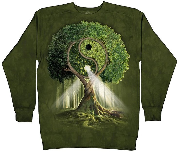 yin yang tree some things pinterest b ume sweatshirts und yin yang. Black Bedroom Furniture Sets. Home Design Ideas