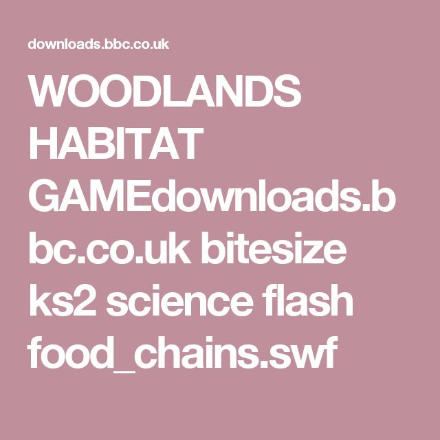 WOODLANDS HABITAT GAMEdownloads.bbc.co.uk bitesize ks2 science flash food_chains.swf
