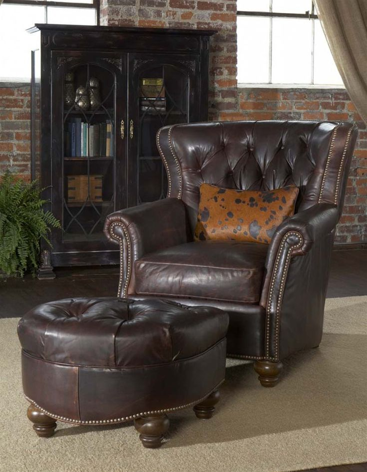 Leather Tufted Library Chair Luxury Fine Home Furnishings And High Quality  Furniture For Any Home Decor | Luxury | Pinterest | Quality Furniture, ...