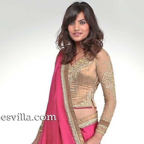 saree blouse designs waist length - Google Search
