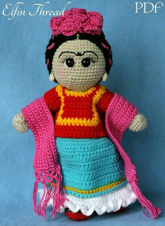 Frida Khalo Crochet Amigurumi Doll