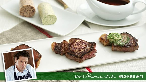 Steak with Flavoured Butter recipe by Marco Pierre White
