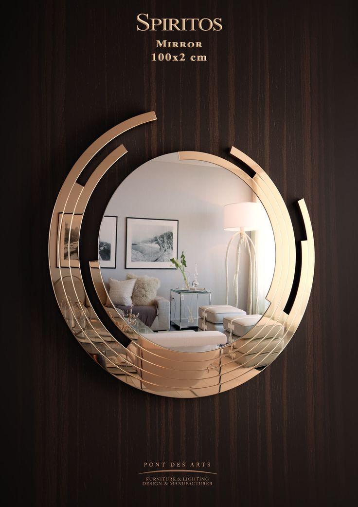 Spiritos Mirror - Brass gilded -Designer Monzer Hammoud - www.