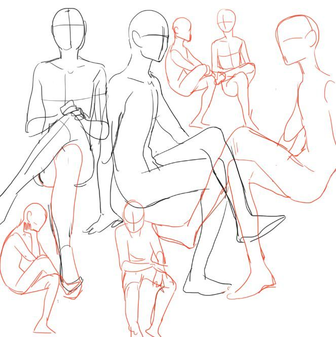 poses draw person reading - Google Search