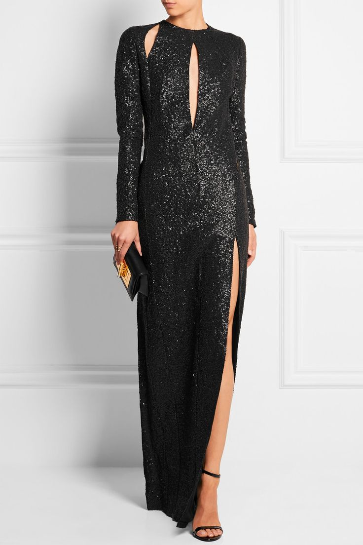 Tom Ford Cutout Sequined Silk Georgette Gown My Style