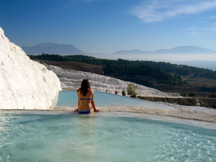 Pamukkale, Turkey - absolutely gorgeous!Buckets Lists, Pamukk Turkey, Awesome, Limestone Hot, Hottt Springg, Cotton Castles, Cascading Limestone, Hot Springs, Bucket Lists