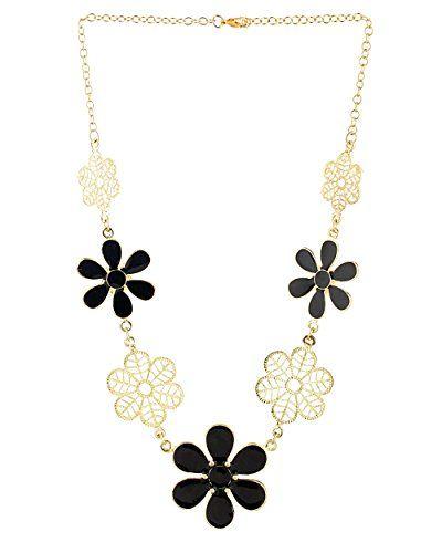 Voylla Lovely Golden Black Flowers Statement Necklace for Women Voylla http://www.amazon.in/dp/B00VYSGLDC/ref=cm_sw_r_pi_dp_MXmawb1KSV9ZQ