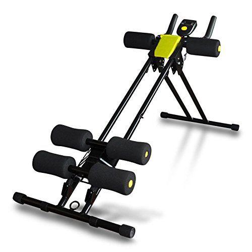 Fitness House AB Vertical - Total Gym Crunch Aparato Para Abdominales. Tonificación Abdominal unisex Negro Estandar