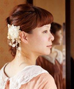 m.soeur / 小花とレースのコサージュ(その他ヘアアクセサリー)
