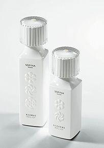 『ソフィーナ ボーテ 美白化粧水』(左)  『ソフィーナ ボーテ 美白美容乳液』(右)