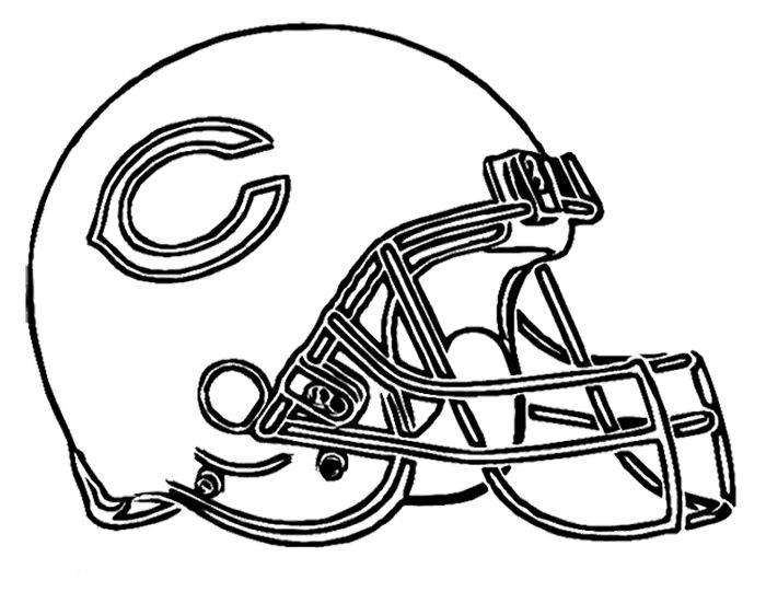 football helmet chicago bears coloring page