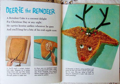 Deer-ie the Reindeer CakeReindeer Cake, Food, Cute Ideas, Magazines Howto, Cake Decor, Baking Ideas, Deer Pools, Vintage Magazines, Deery