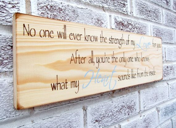 """Rustic Baby Nursery, Woodland baby nursery theme, Country Nursery, Baby shower gift boy girl """"Strength of my Love"""" quote sign, new baby"""