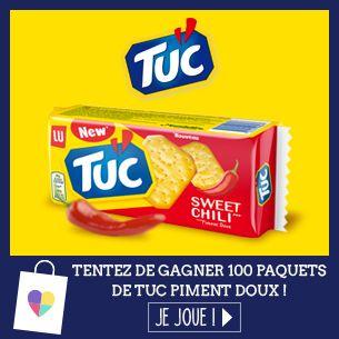 Tentez de gagner 100 paquets de TUC Piment Doux ! - Ma vie en couleurs