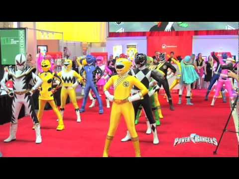 Check out an exclusive look at Power Rangers Swarm as the Rangers show of their moves in Las Vegas!