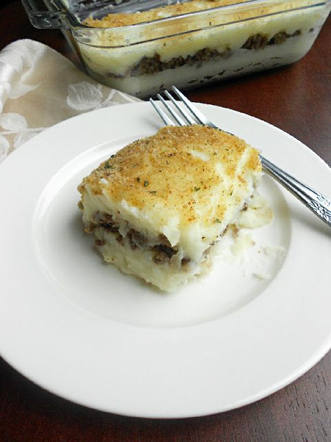 Couture: Mashed Potatoes & Beef Casserole, could add cream soup ...
