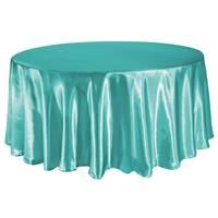 TCSN-120TL 120 Inch Round Satin Teal Green Tablecloth