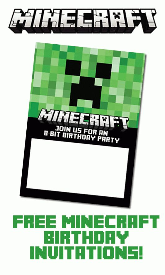 Best  Minecraft Birthday Invitations Ideas On   Mind