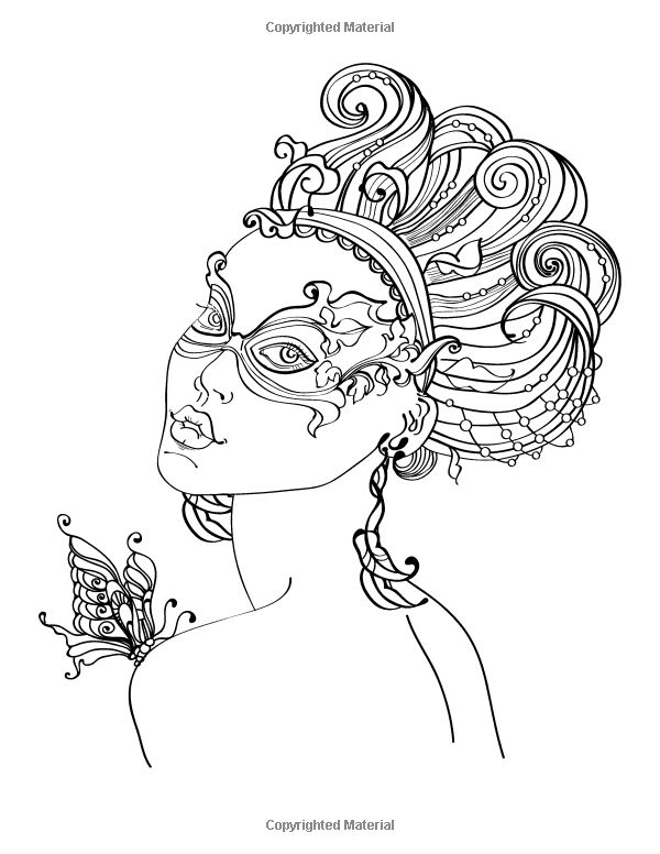 Amazon.com: Faces Coloring Book for Grown-Ups 1 & 2 (9781530539260): Nick Snels: Books