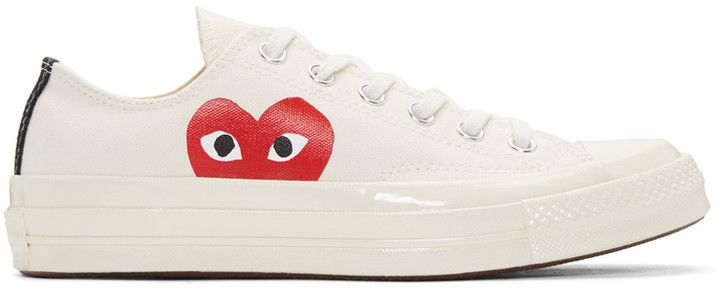 Comme des Garçons Play Off-White Converse Edition Low-Top Sneakers