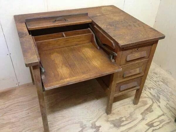 Maybe this is an old typewriter desk? - 8 Best Desks Images On Pinterest Desks, At Home And Computers