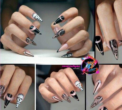 Nancy nail boho blackwhite