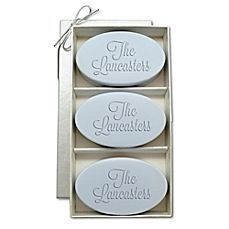 Carved Solutions Signature Spa Trio Oval Soap Bars (Set of 3) $29.99