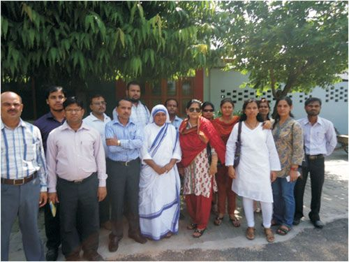 Participants of Orientation Programme visit Missionaries of Charity