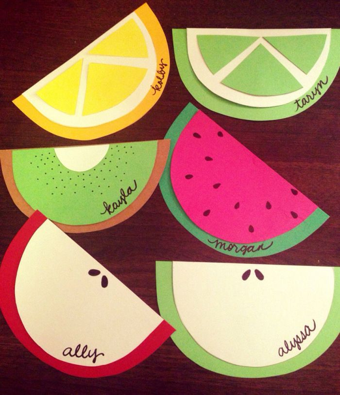 Template for Fruit Door Decs