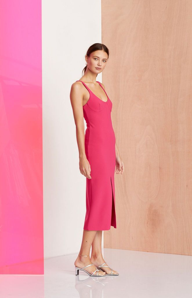 fcf89df9b Bec & Bridge Amelie Cup Midi Dress Magenta in 2019 | Bec & Bridge ...