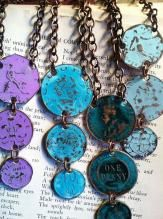 Three Coin Necklace, Old Money Corp handmade jewelry