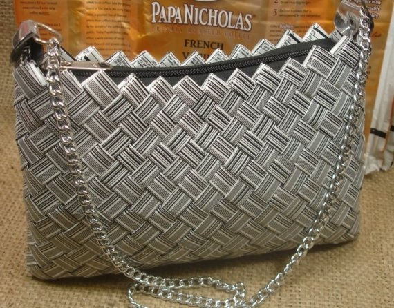Candy Wrapper Style HANDBAG Purse w/Chain Handle by ItsOurEarth, $48.00