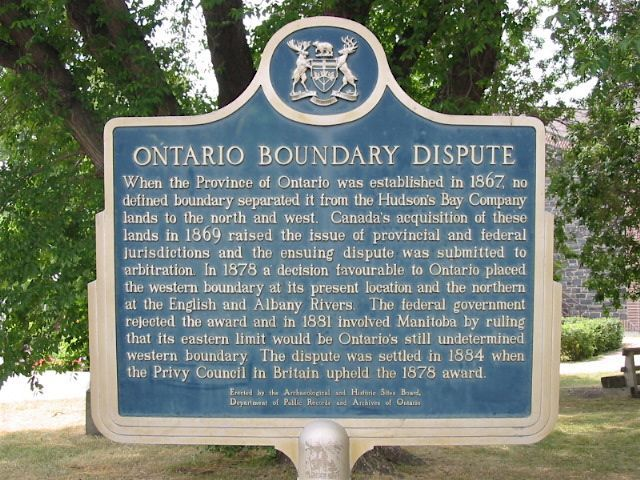 The Ontario Boundary Dispute Kenora