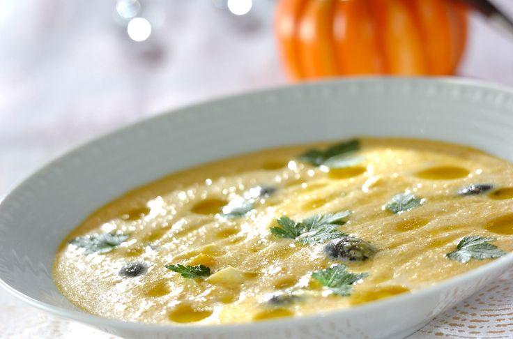 カボチャには健康な皮膚や髪、爪などを作る重要な役割を果たすビタミンB2が豊富!カボチャの冷製スープ[洋食/シチュー・スープ]2011.07.18公開のレシピです。