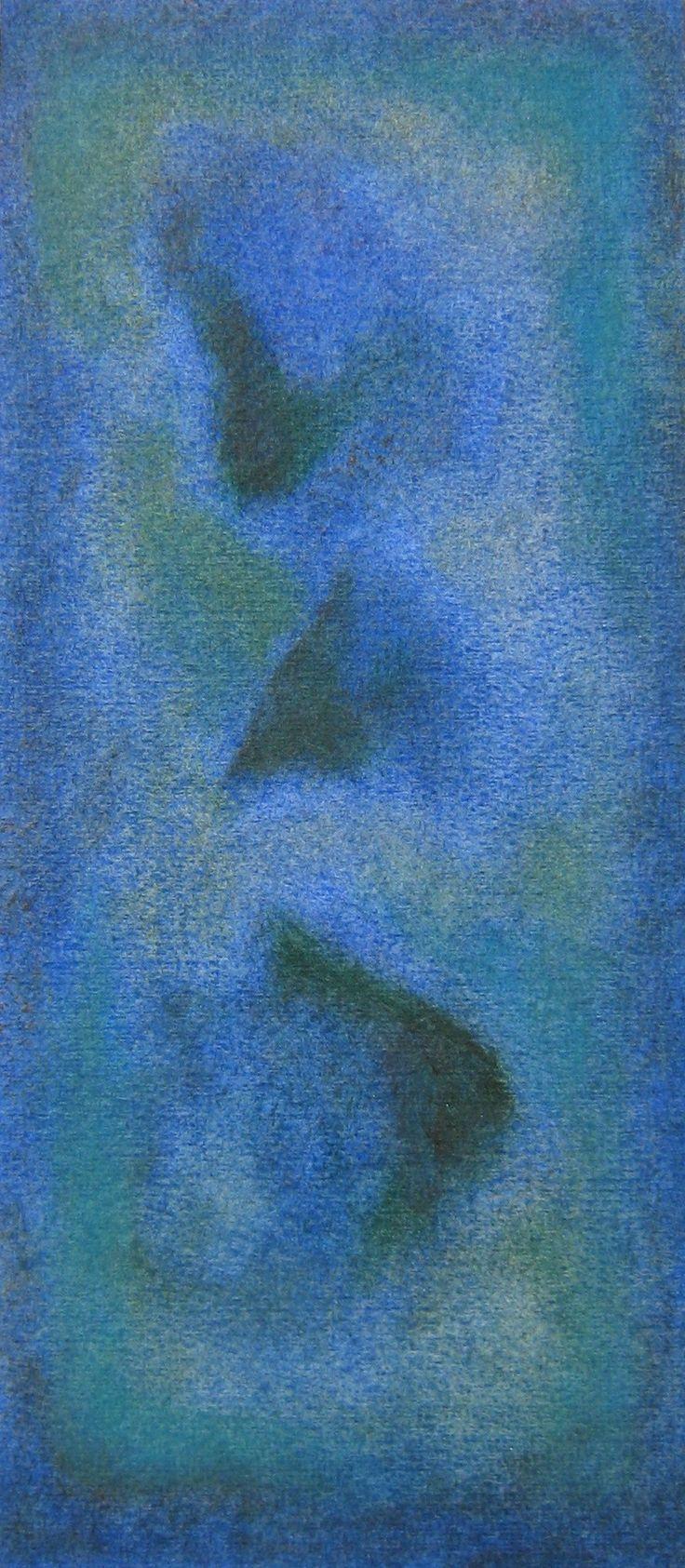 Stefano d'Andrea - pastelli a olio su carta - cm. 11,5 x 26